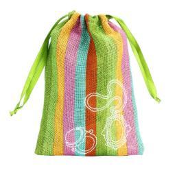 красочные мешковина сумку пакет с drawstring