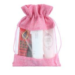 розовый мешковина мешок подарков для упаковки