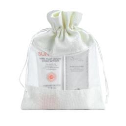 White Burlap regalo bolsa para el embalaje