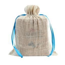 мешковина сумку пакет с атласом drawstring