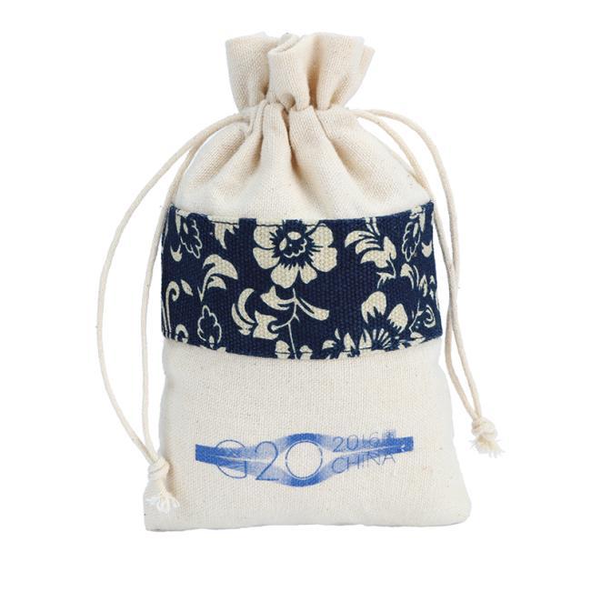 Elemento chino cordón de algodón bolsa bolsa