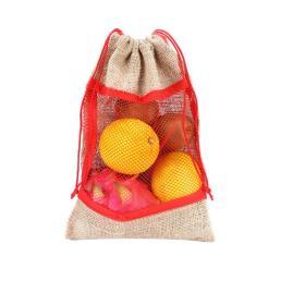 drawstring мешковина сумку с одной стороны сетки