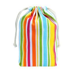 กระเป๋าผ้าฝ้าย กระเป๋า drawstring ที่มีสีสัน