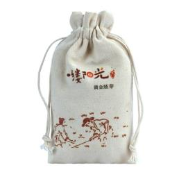 Drawstring Cotton Bag Pouch for Merchandising
