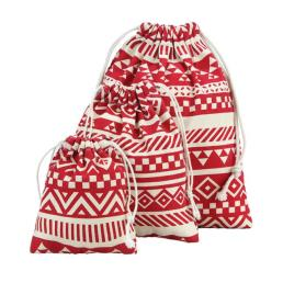 Cotton Bag with Tribal Stripe Pattern