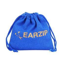 Blue Cotton Bag Pouch with Drawstring