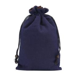 Double Layer Cotton Pouch with Drawstring