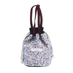 Printed Drawstring Cotton Bag Pouch