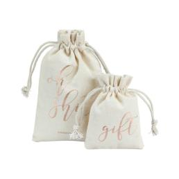 Cotton Favor Gift Pouch with Drawstring