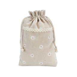 Printed Drawstring Cotton Favor Gift Bag