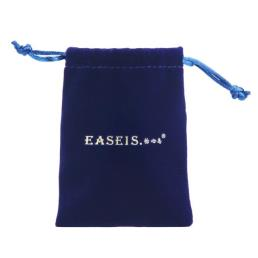 Blue Velvet Drawstring Jewelry Favor Pouch