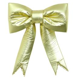 2 Loop Gold Metallic Puff Bow 18 inches for Classic Wreaths