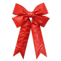 """New Arrival 24"""" Red Glitter Outdoor Bow"""