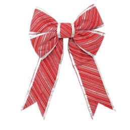 Candy Cane Glitter Stripes Decorative Bow
