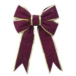 Wholesale Burgundy Velvet Commerical Structural Bow