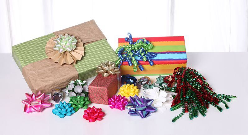 curly ribbon bow,Star Bow, Colorful Star Bow,  Star Bow for Packaging