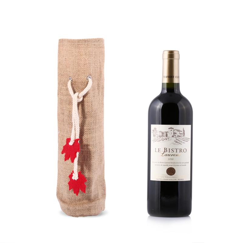 jute wine bag, jute gift bag, jute bottle bag, jute wine bottle bag