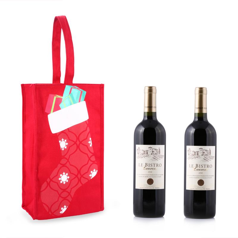 Red Wine Bag, Wine Bottle Tote Bag,Bottle Tote Bag, Double Wine Bottle Tote Bag
