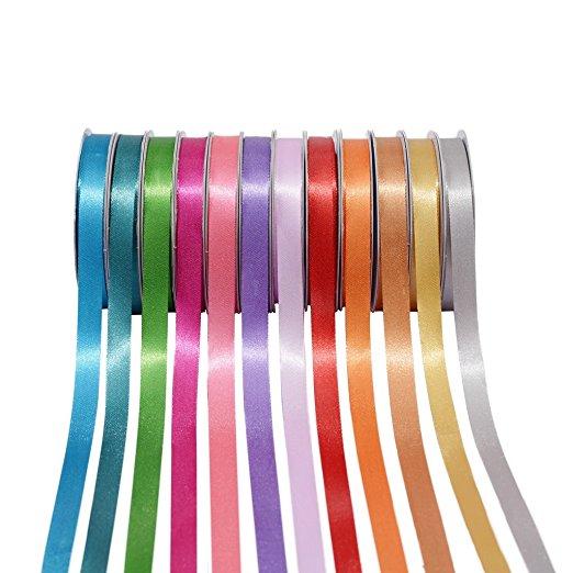 satin ribbon, ribbons and bows, gift packings, polyester ribbon, 1cm ribbon