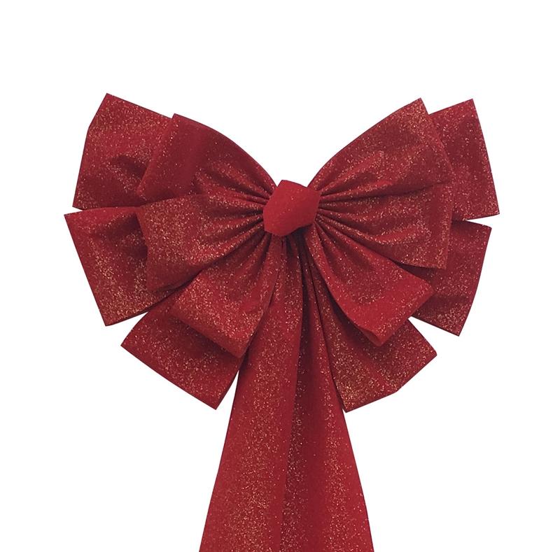 Red velvet handmade gift bow negle Images